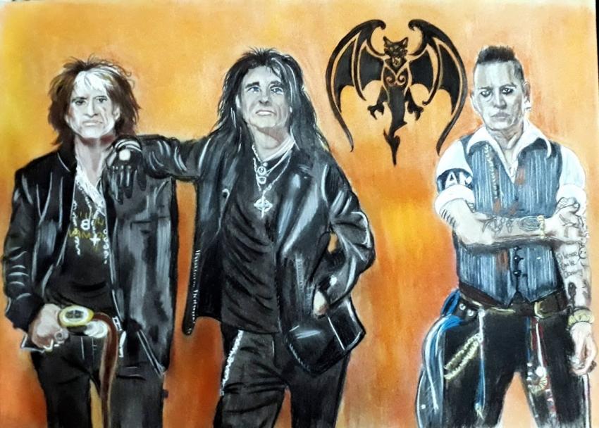 Joe Perry, Alice Cooper, Johnny Depp par Slogirl64